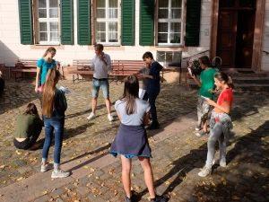Gesprächskreis der Teilnehmer.