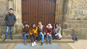 Schüler mit Migrationshintergrund des Evangelischen Gymnasiums Nordhorn.