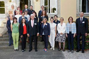 Gruppenbild der Teilnehmer der Prämierung Sichtbar evangelisch 2020.
