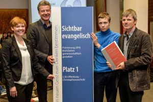Platz 1 Sichtbar evangelisch 2017 Prämierung