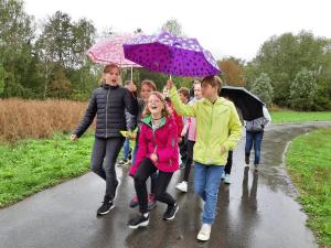 Schüler der Ev. Oberschule Belgern-Schildau auf einem Ausflug.