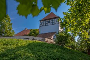 "Der Stadtrundgang ""Kultour"" führt zur Bad Dübener Burg."